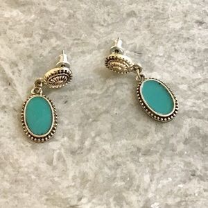 Anthropologie Turquoise Stone Earrings